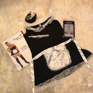 Plus size sexy maid costume